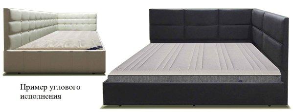 Угловое исполнение кровати МегаМебель